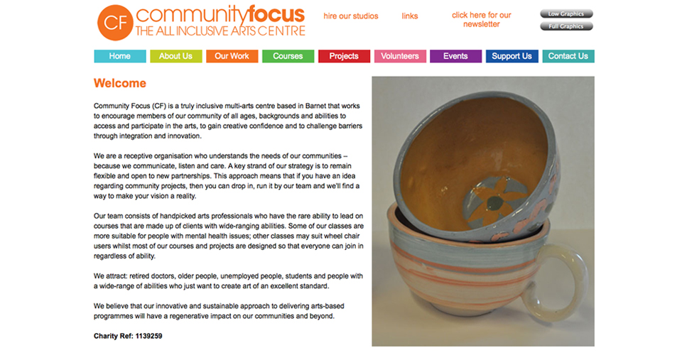 Community focus, community arts in Barnet...