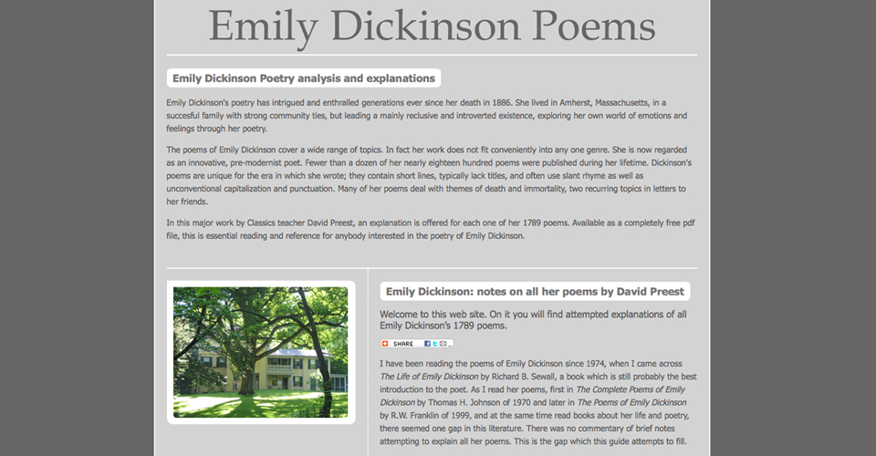 Emily Dickinson Poems - the poems of Emily Dickinson analysis