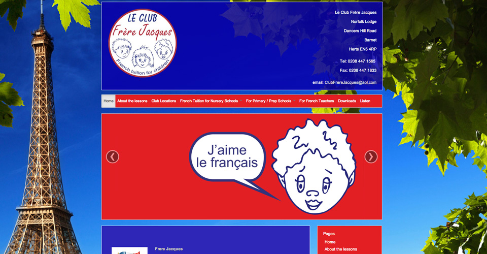 Le Club Frere Jacques - French Tuition for children