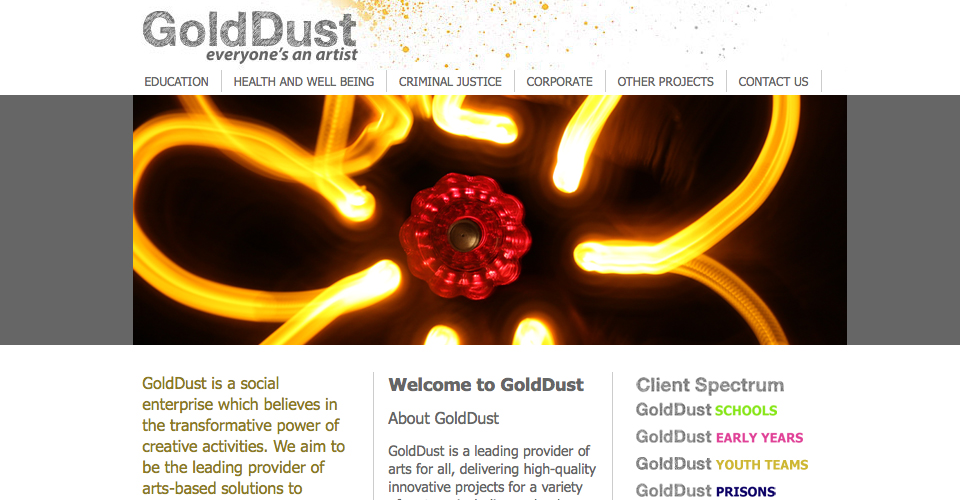 Golddust Arts website