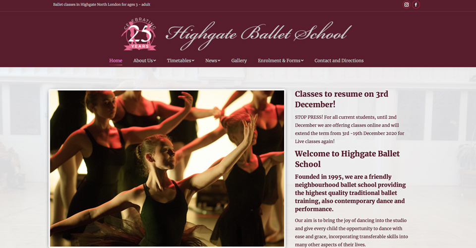 Highgate Ballet School website