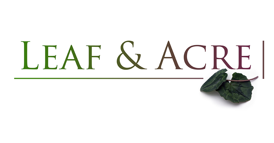 Leaf and Acre Logo design