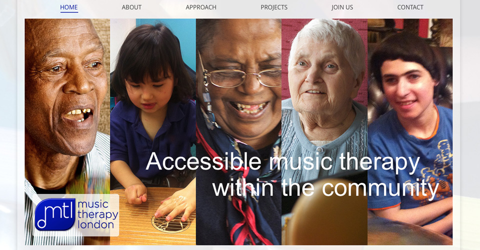Responsive wordpress website for London music therapist