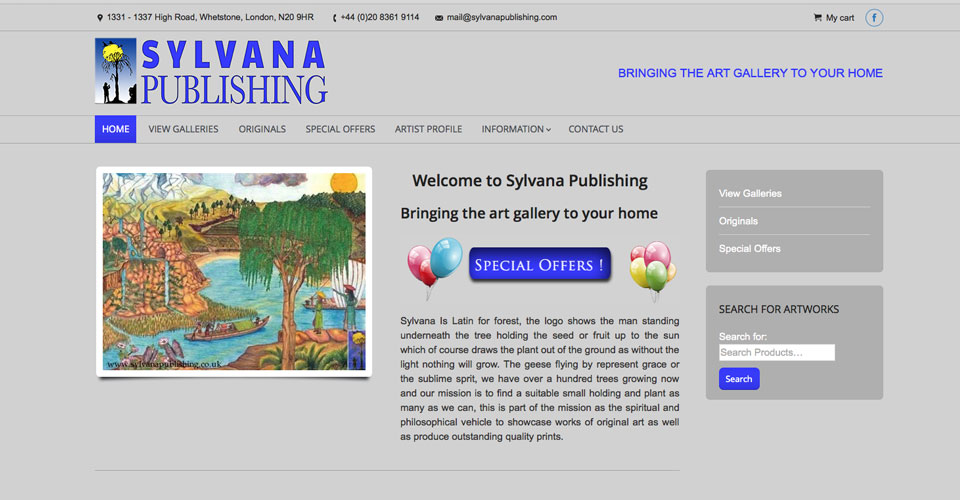 Sylvana Publishing website